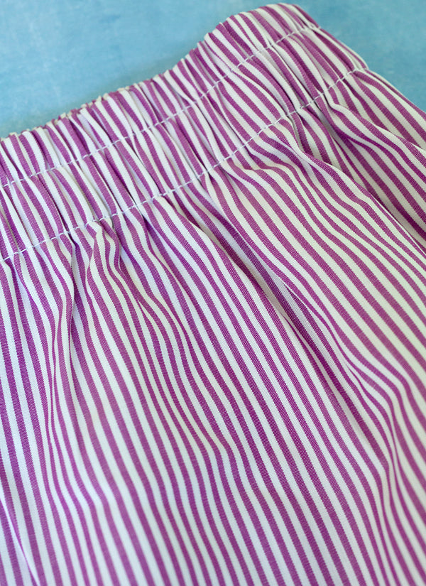 The Perfect Fashion Boxer Short in Purple and White Stripes