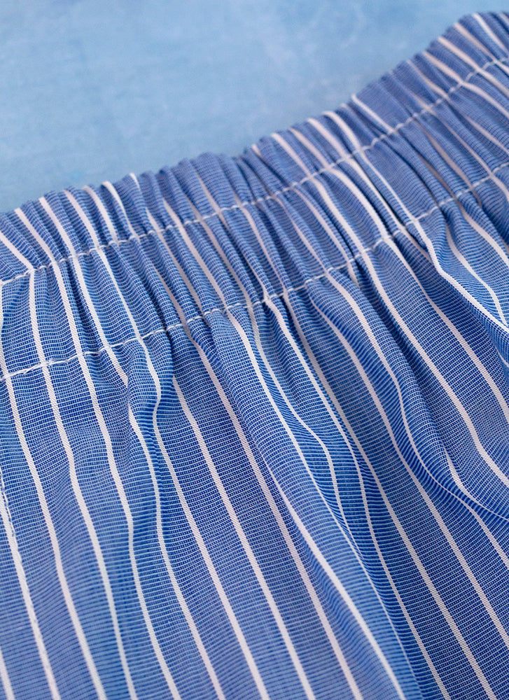 The Perfect Fashion Boxer Short in Blue and White Wide Stripe