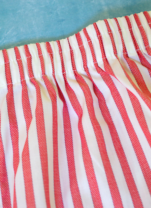 The Perfect Fashion Boxer in Red and White Textured Stripes