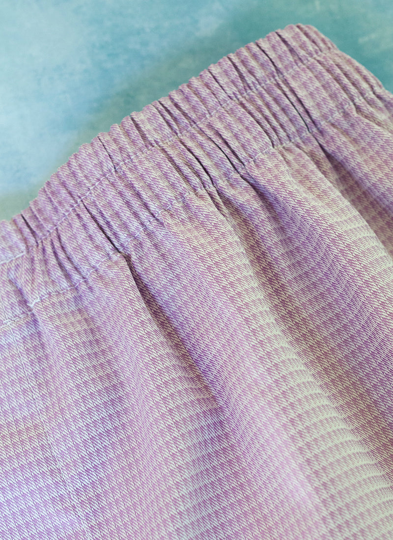 The Perfect Fashion Boxer Short in Purple Basketweave