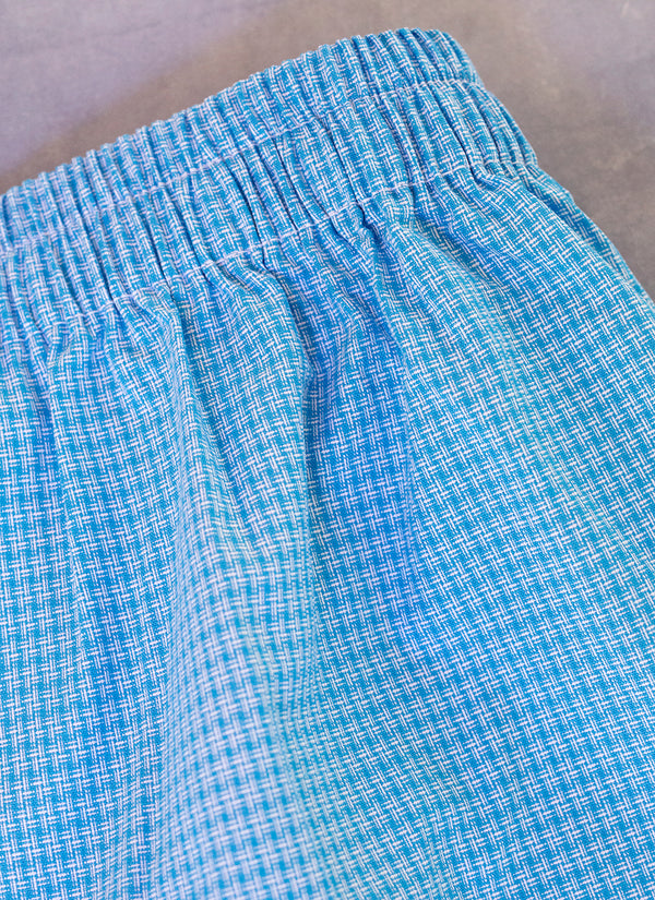 The Perfect Fashion Boxer Short in Blue Basketweave