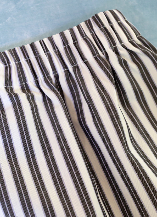 The Perfect Fashion Boxer Short  in Black, Purple and White Stripe