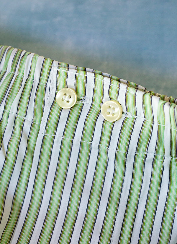 The Perfect Fashion Boxer Short in Medium Green Stripes