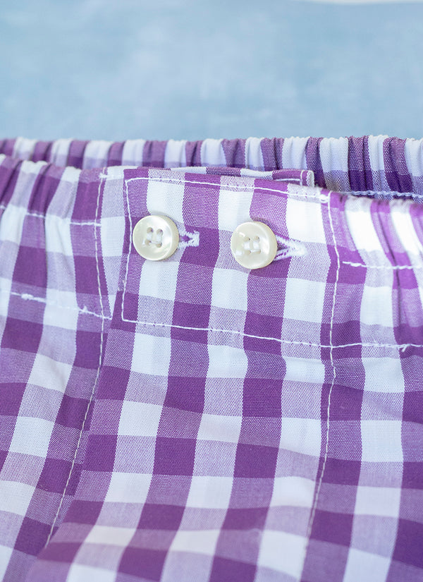 The Perfect Fashion Boxer Short in Big Purple Check