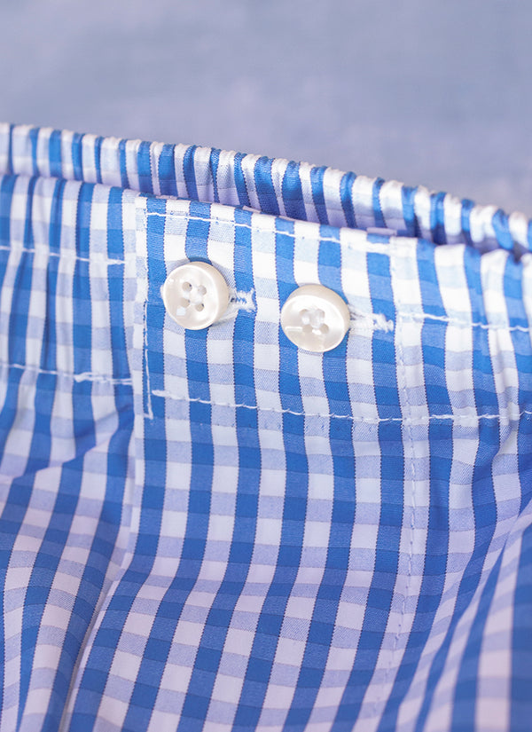The Perfect Fashion Boxer Short in Blue Gingham