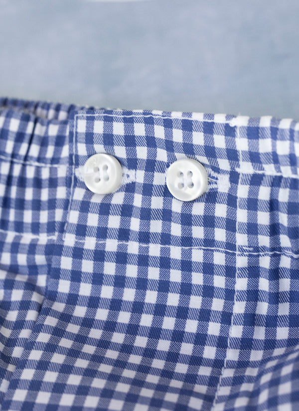 The Perfect Fashion Boxer in Small Navy Gingham