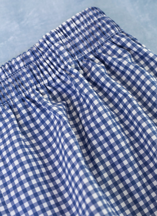 The Perfect Fashion Boxer Short in Small Navy Gingham