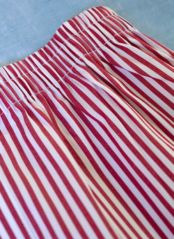 The Perfect Fashion Boxer Short in Red and White Stripes