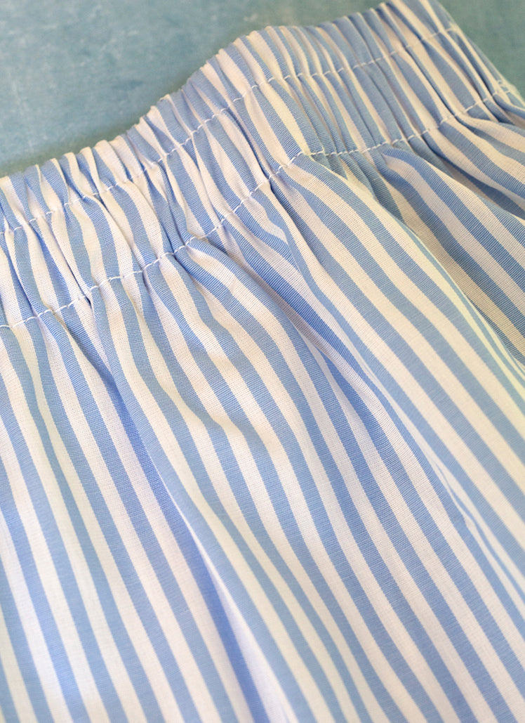 The Perfect Fashion Boxer Short in Light Blue and White Medium Stripe