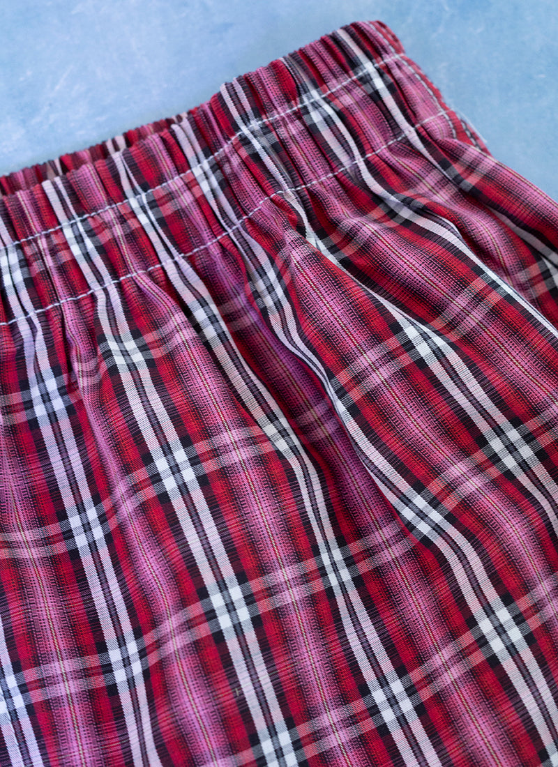 The Perfect Fashion Boxer Short in Red and Pink Plaid