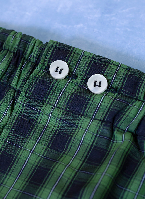 The Perfect Fashion Boxer in Navy and Green Plaid