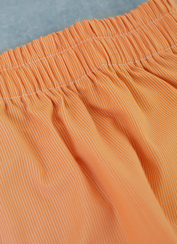 The Perfect Fashion Boxer Short in Orange Micro Stripes