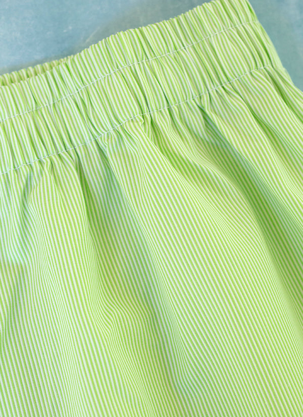 The Perfect Fashion Boxer Short in Green Micro Stripes