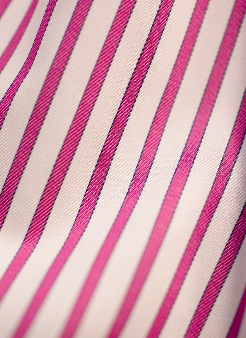 The Perfect Fashion Boxer Short in Fuchsia and White Stripes