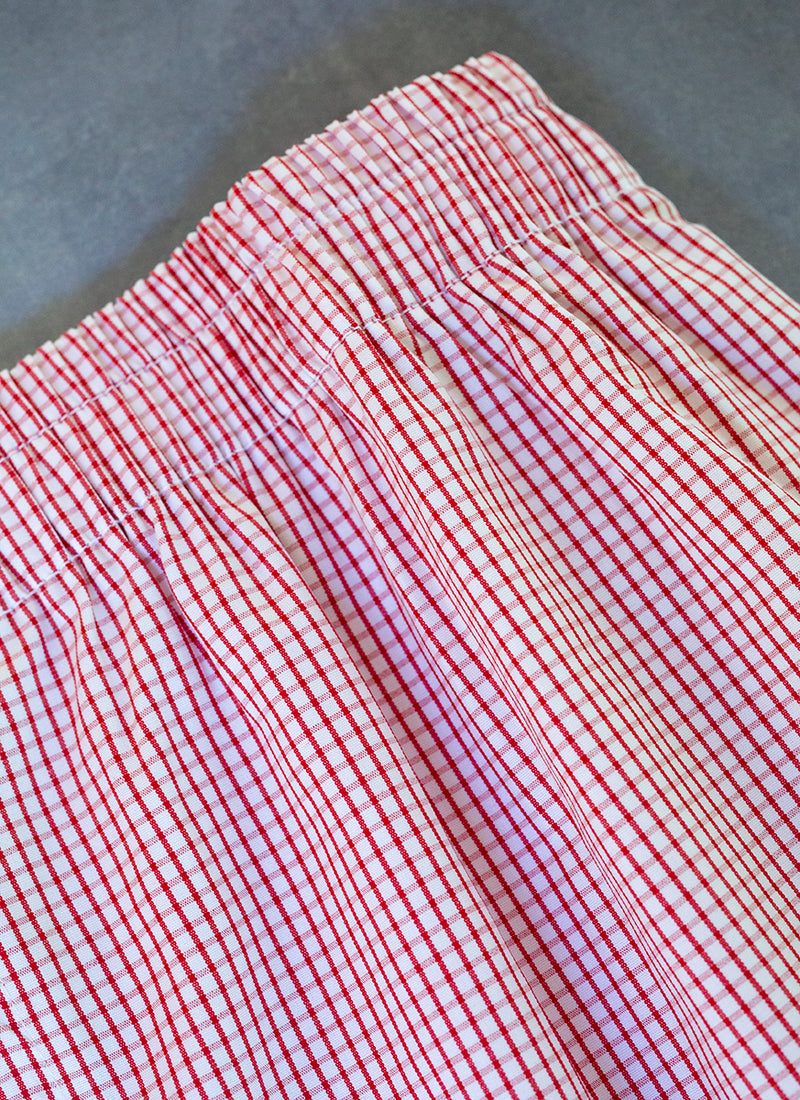 The Perfect Fashion Boxer Short in Red and White Check