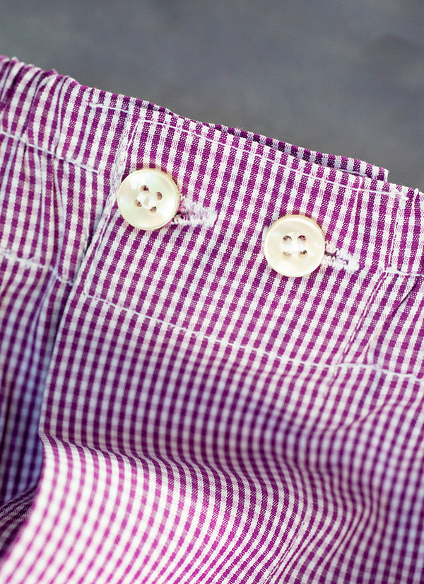 The Perfect Fashion Boxer in Purple and White Micro Check