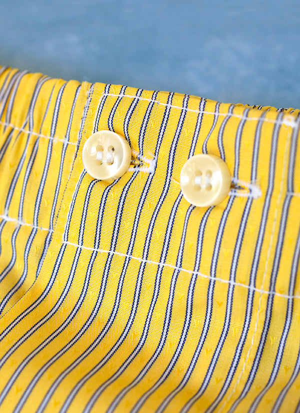 The Perfect Fashion Boxer in Yellow and Blue Thin Stripe