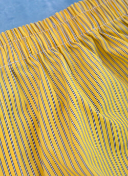 The Perfect Fashion Boxer Short in Yellow and Blue Thin Stripe