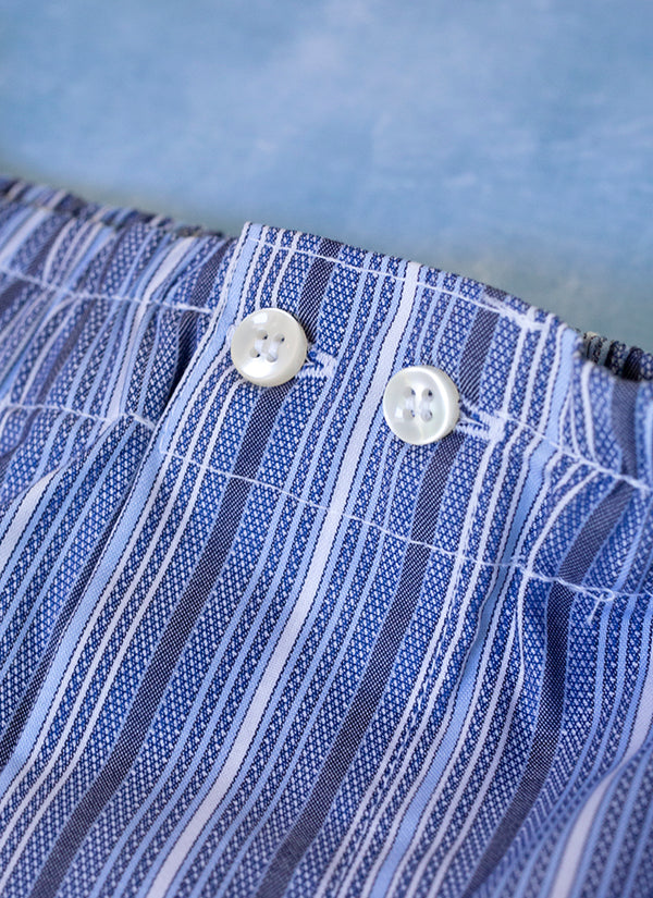 The Perfect Fashion Boxer Short in Multi Blue Stripe