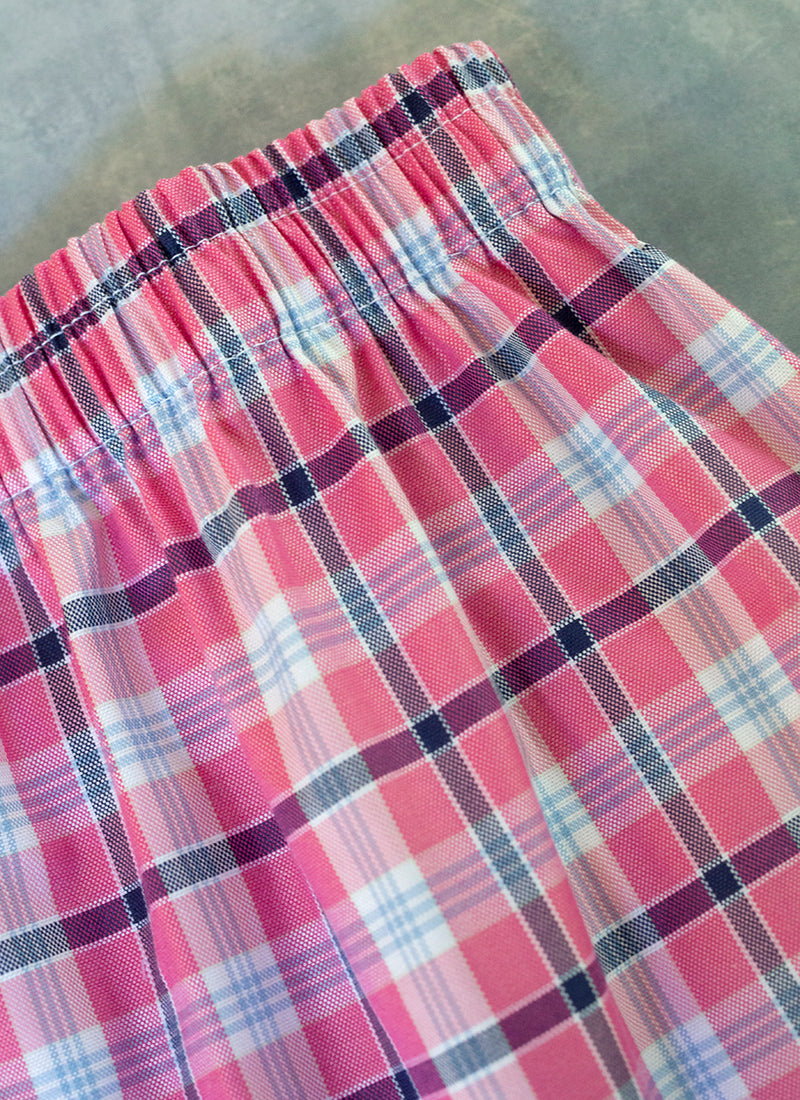 The Perfect Fashion Boxer Short in Pink and Black Plaid
