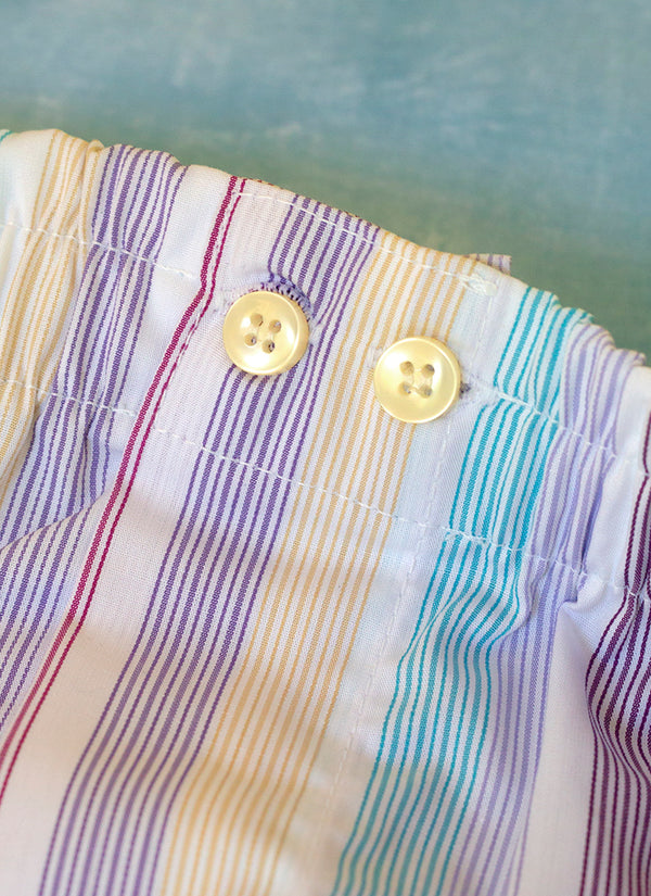 The Perfect Fashion Boxer Short in Multi Pastel Stripe