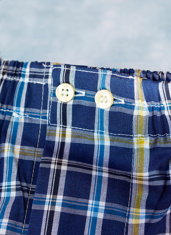 The Perfect Fashion Boxer Short in Navy Plaid