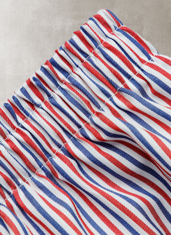 The Perfect Boxer Short in Red, White and Blue Stripe