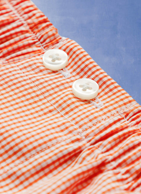 The Perfect Boxer Short in Orange Gingham