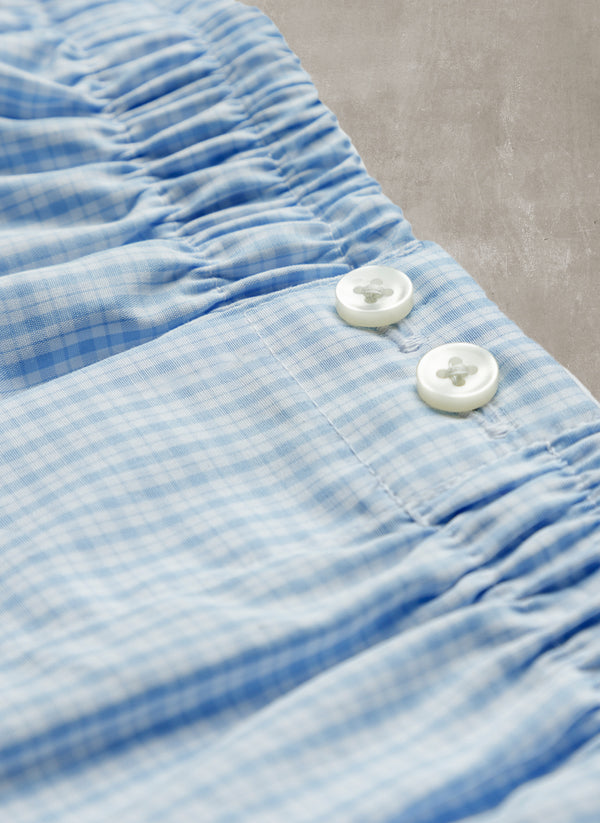 The Perfect Boxer Short in Light Blue Check