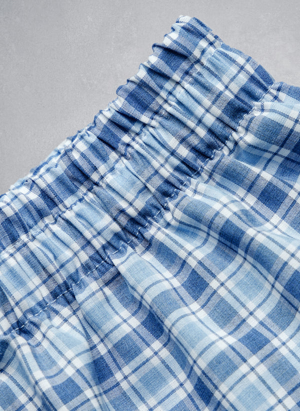 The Perfect Boxer Short in Blue Plaid