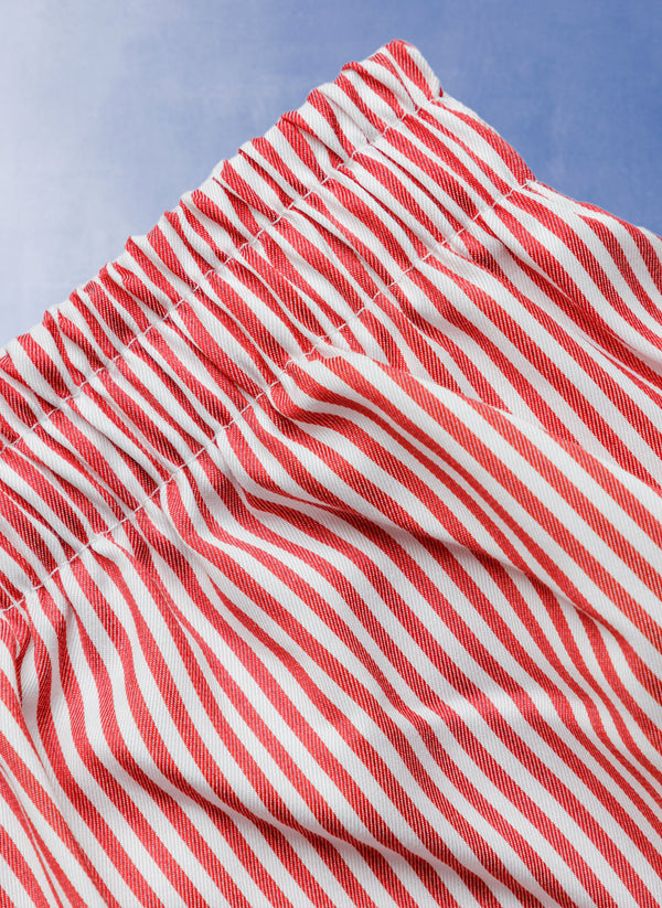 The Perfect Boxer Short in Red Stripe
