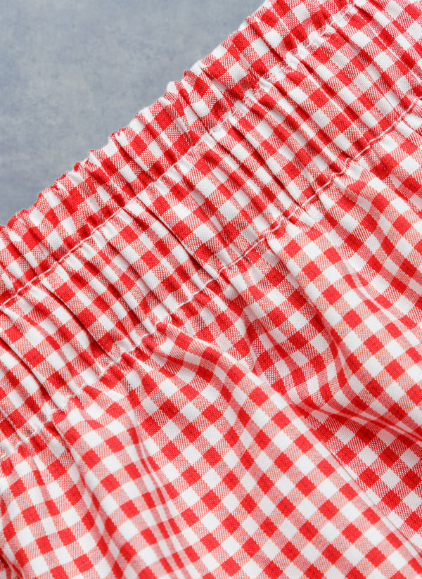 The Perfect Boxer Short in Red Plaid