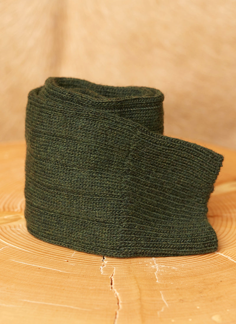 Cashmere Blend Rib Sock  in Forest