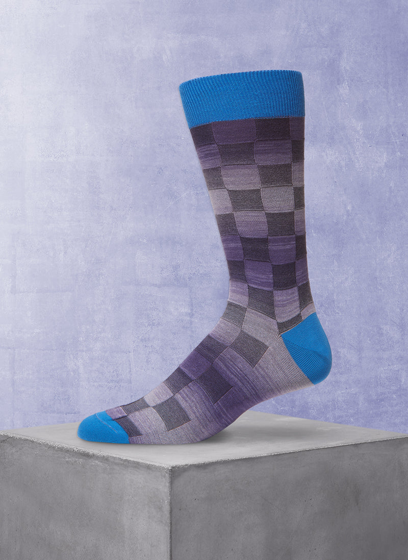 Space Dyed Basketweave Sock in Navy
