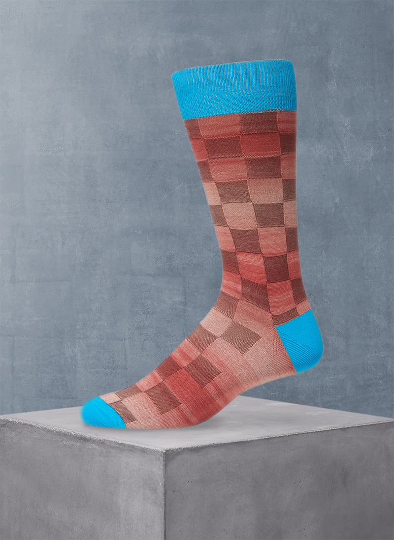 Space Dyed Basketweave Sock in Teal
