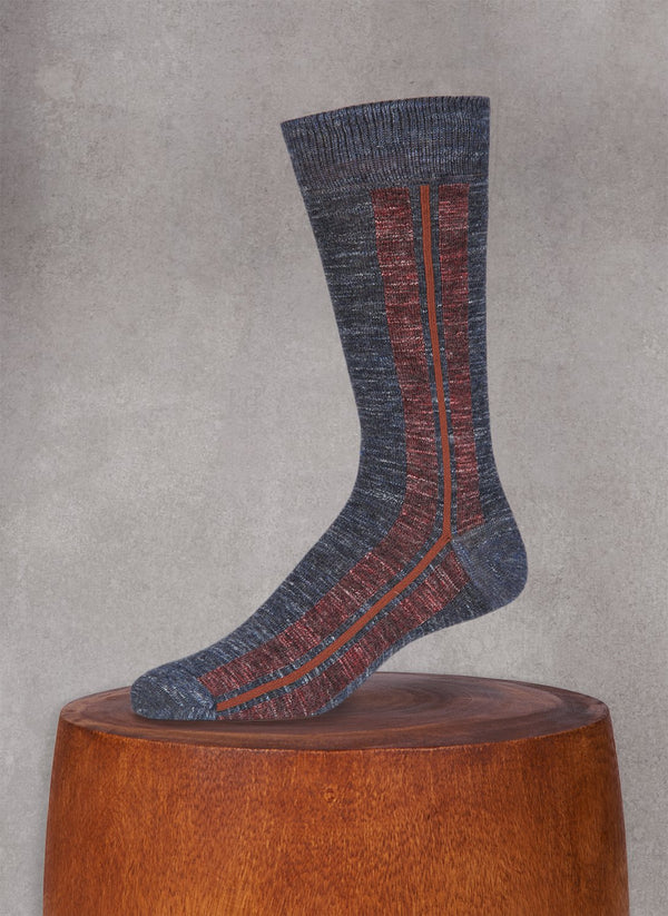 Pigmento Vertical Stripe Sock in Charcoal