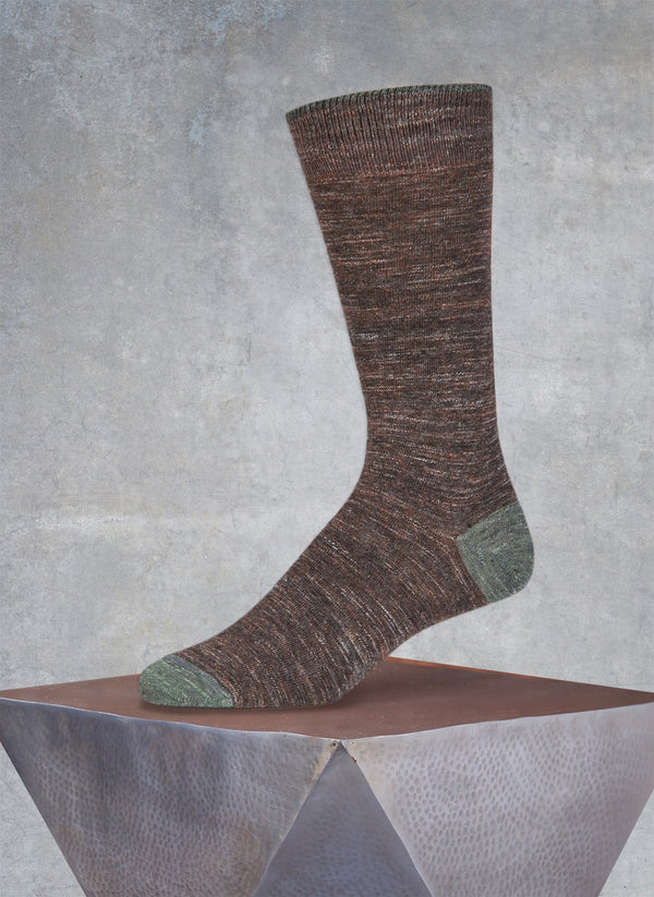 Pigmento Solid Heel/Toe Sock in Chestnut Melange