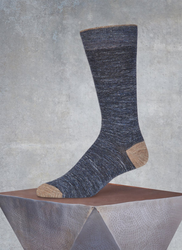 Pigmento Solid Heel/Toe Sock in Denim
