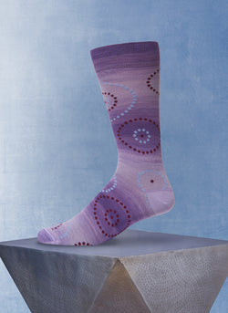 Space Dyed Circle Dot Sock in Purple