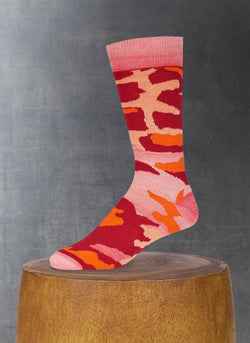Camo Sock in Red