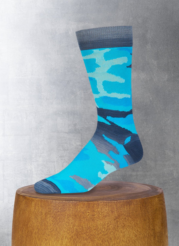 Cammo Sock in Teal