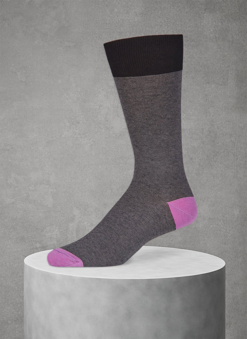 Teamo Thin Stripe Sock in Black