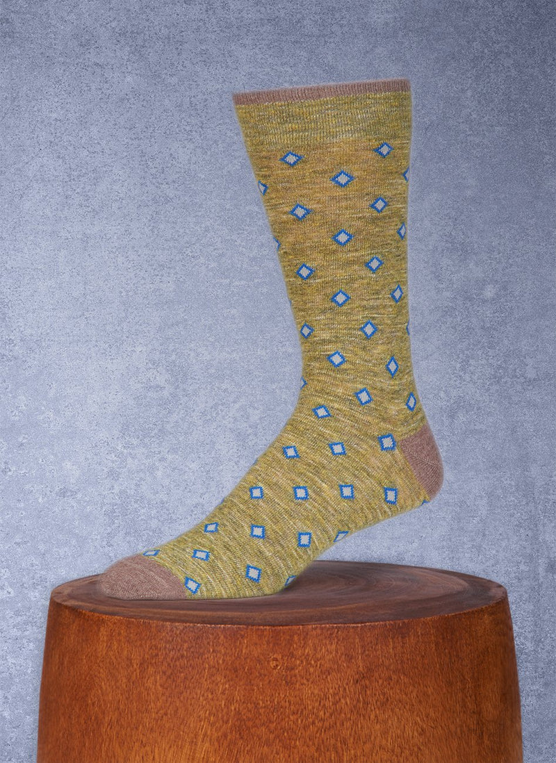 Mélange in Pistachio Green Sock