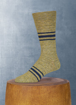 Mélange Retro Stripe in Pistachio Sock