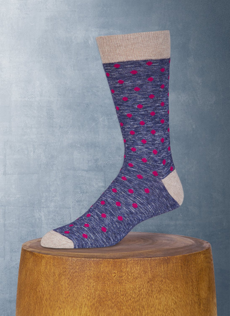 Xenon Dot Cotton Sock in Navy