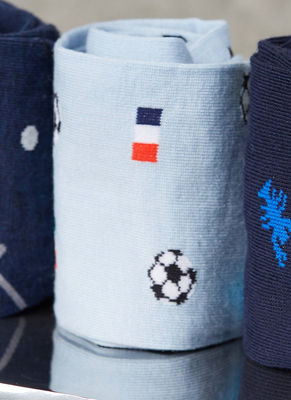 Soccer Sock in Light Blue