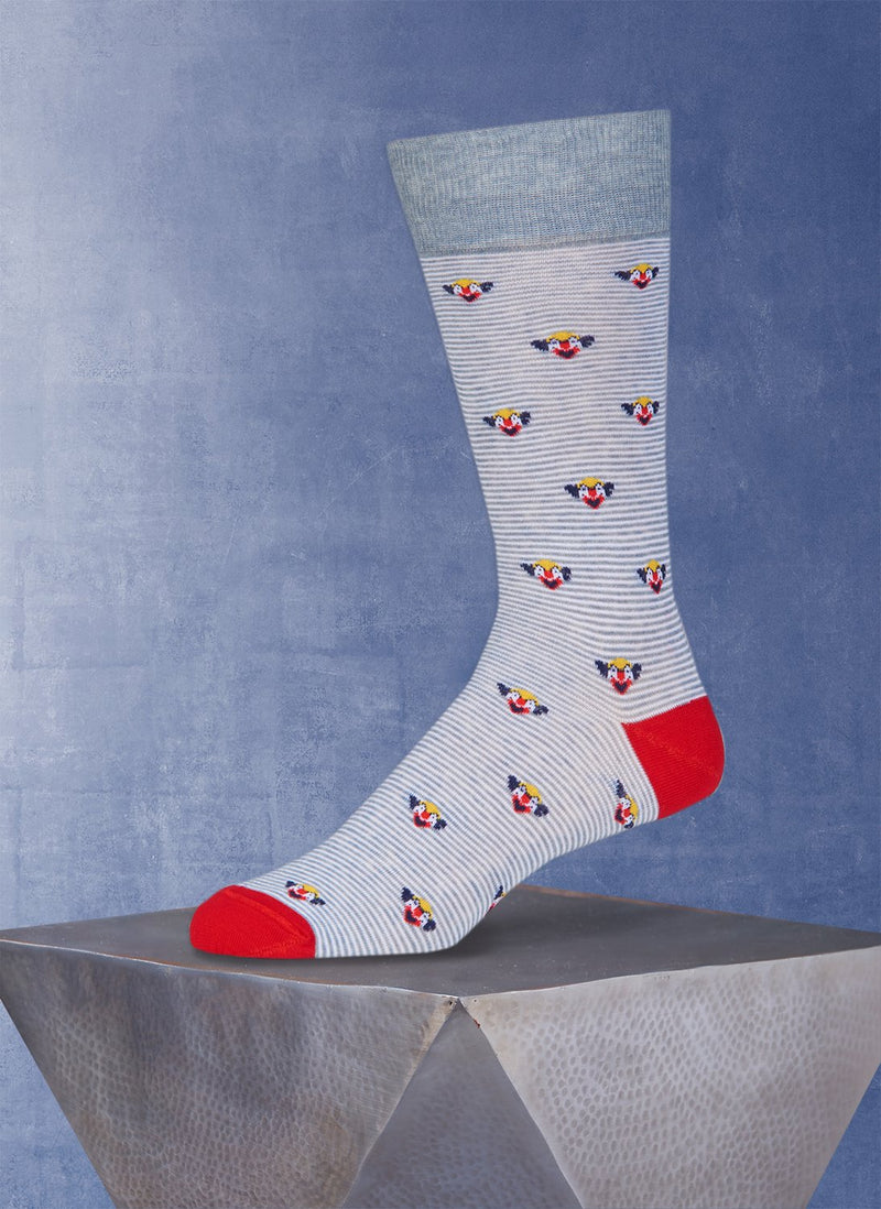 Clowns in Medium Grey Sock