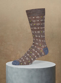 Pigmento Diamond Circle Sock Sock in Brown