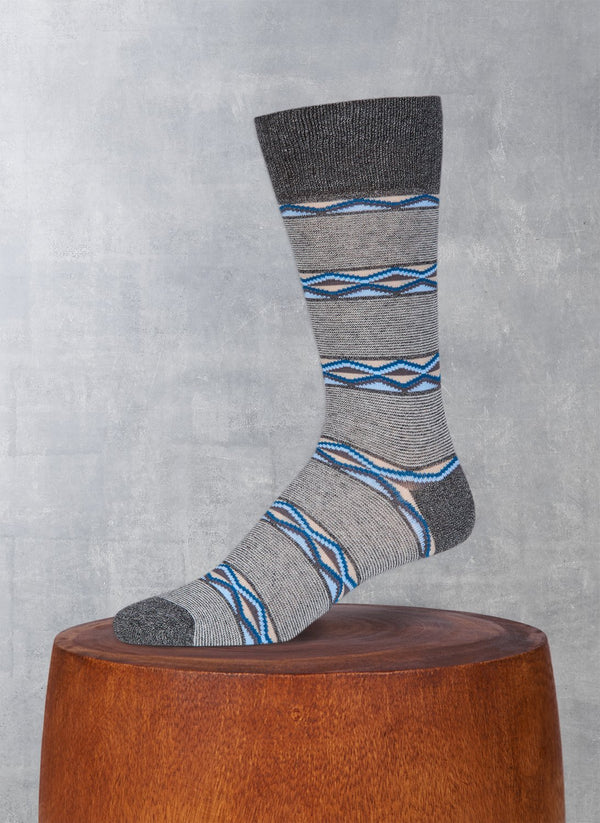 Jaspé Diamond Millie Sock in Charcoal