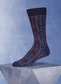 Anchor Waves in Navy Sock